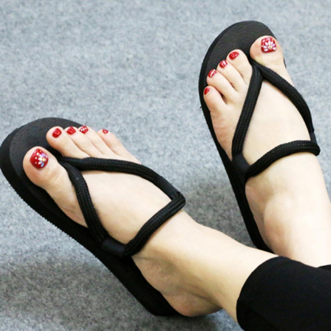 Flip Flop Paolian Cr/éatif Sandales Plat Antid/érapant Femmes Tongs Compens/é Casual Chaussures de Plage Chausson Pantoufles Roman