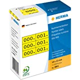 Herma 4801 Nummernetiketten (dreifach, selbstklebend 10 x 22 mm) gelb