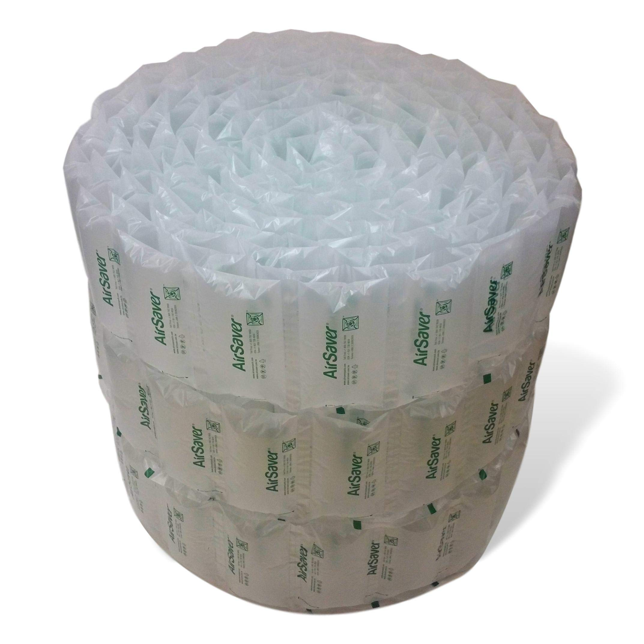 320 Count 4x8 airSaver air Pillows (3 Large Rolls) 39 gallons 5 Cubic feet Green Void Fill Cushioning eco Friendly by Airsaver Pack (Image #1)