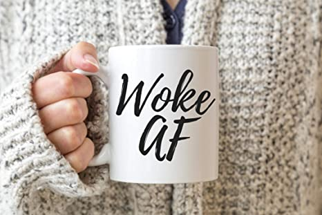 Amazon.com: Woke AF taza de café espiritual regalo ideas ...