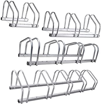 4 /& 5 Positions Cycle Bicycle Bike Parking Rack Floor Stand Steel Pipe Storage Wall Mount Holder 3 Crystals 2