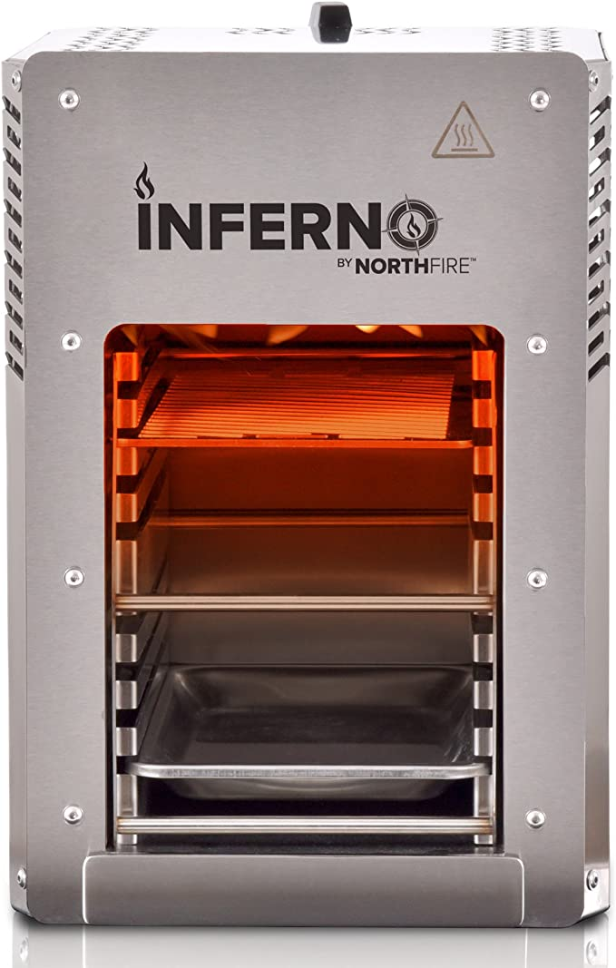 NORTHFIRE Inferno Single Propane Infrared Grill, Silver