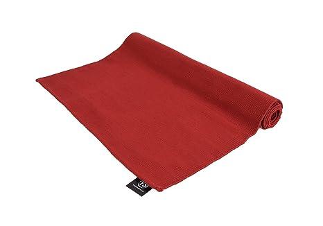 Algodón orgánico Yoga alfombra, granate: Amazon.es: Deportes ...
