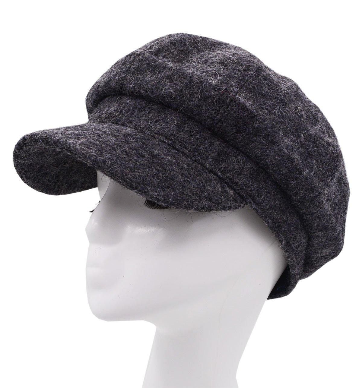 Meifan Fashions Hats,Woman Winter Beret Duckbill Newsboy Hat (Dark Gray) by Meifan