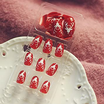 Amazon Merry Christmas Red Elk 2017 New Arrival Nail Art Nail