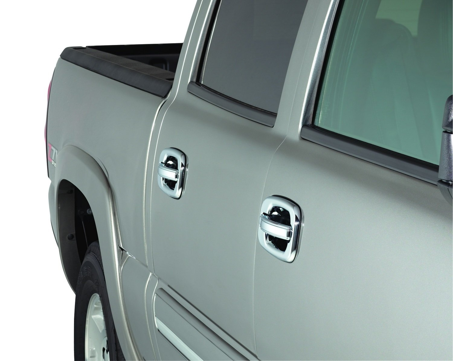 Auto Ventshade 685202 Chrome Door Handle Covers 4-Door Set for 2004-2014 Ford F-150 with Keypad