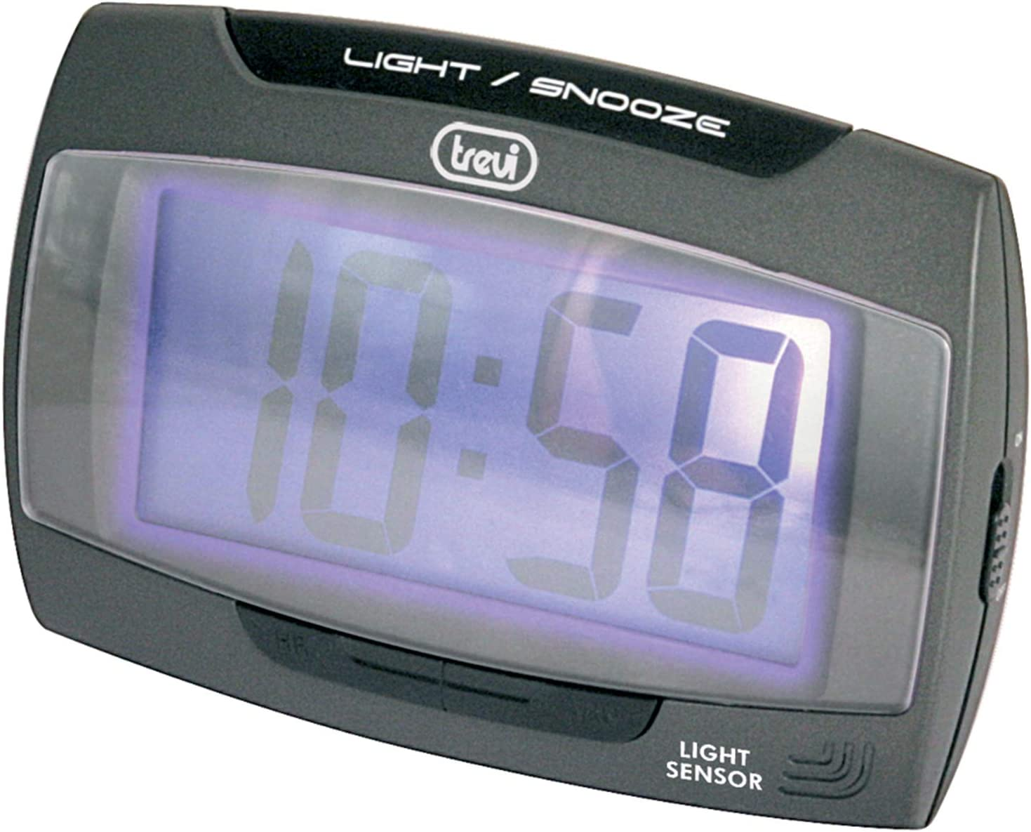 Trevi SLD 3065 Digital Table Clock Negro Rectangular - Relojes de Mesa (1 Pieza(s), 108 mm, 40 mm, 75 mm, LCD, AA)