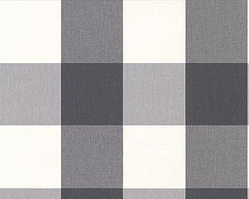 A S Creation Vliestapete Elegance Tapete Mit Textilartiger Oberflache Kariert  M X