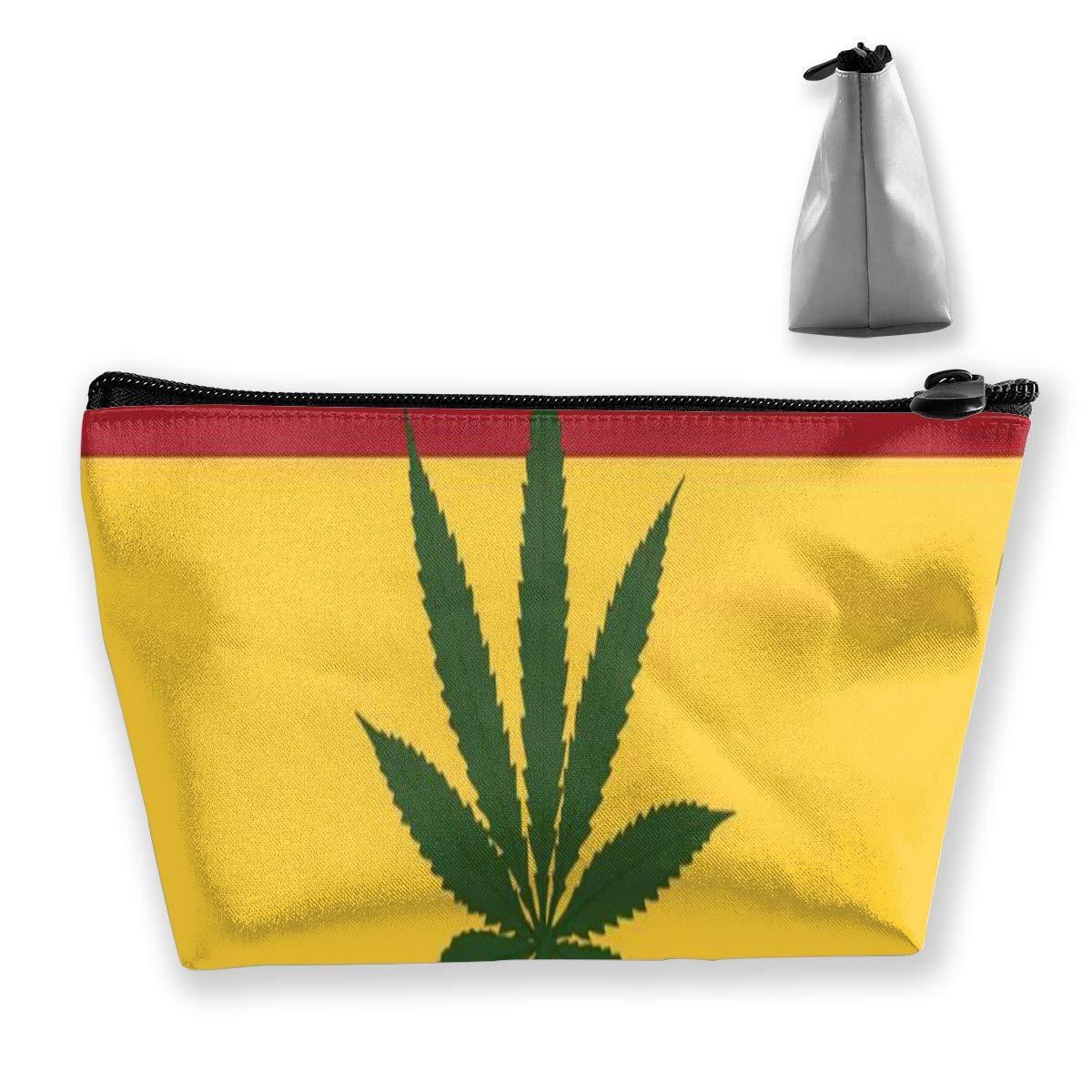 Weed Smoking Jamaican Flag Makeup Bag Bolsas de aseo grandes ...