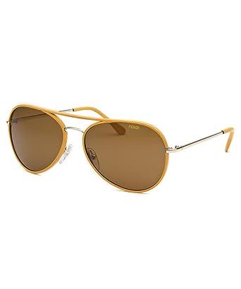0a0e7f0e396 Fendi Fs5262l-714-57-15-135 Maserati Aviator Gold-Tone Polarized Sunglasses  at Amazon Women s Clothing store