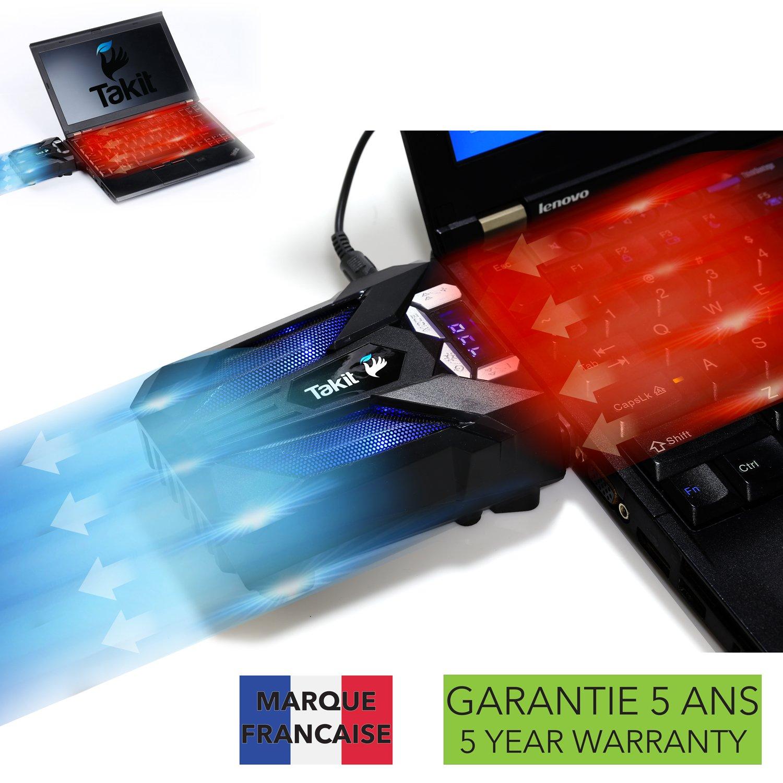 Takit S01 - Refrigerador para portátil con ventilador de vacío (refrigeración rápida a 3500 RPM, Detección de temperatura automática, 3500 RPM, Conexión USB, Compatible con bases de refrigeración) TS01