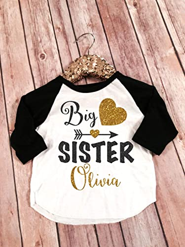 Amazon Com Big Sister Shirt Little Sister Shirt Personalized Shirt