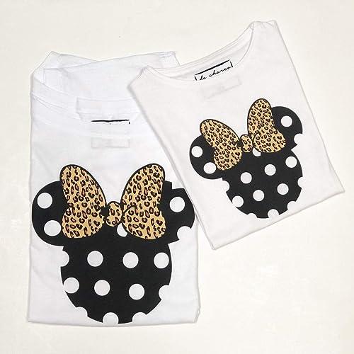 PACK Camisetas M/C MINNIE + lazo animal print | MICKEY + pajarita ...