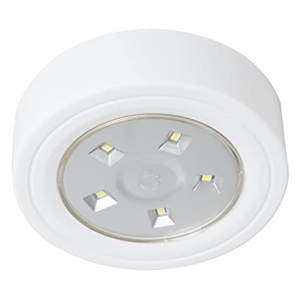 lavish home 82 ys006 5 led portable puck ceiling light with remote rh amazon com Portable Light Towers Portable Light Switch