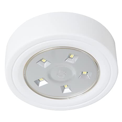pretty nice d4852 33533 Lavish Home 82-YS006 5 Led Portable Puck & Ceiling Light with Remote Control