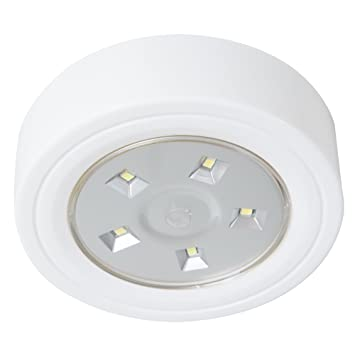 Lavish home 82 ys006 5 led portable puck ceiling light with lavish home 82 ys006 5 led portable puck ceiling light with remote control mozeypictures Gallery