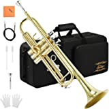 Eastar Bb Trumpet Standard Trumpet Set for Student Beginner with Hard Case, Valve Oil, Cleaning Kit, 7C Mouthpiece and…