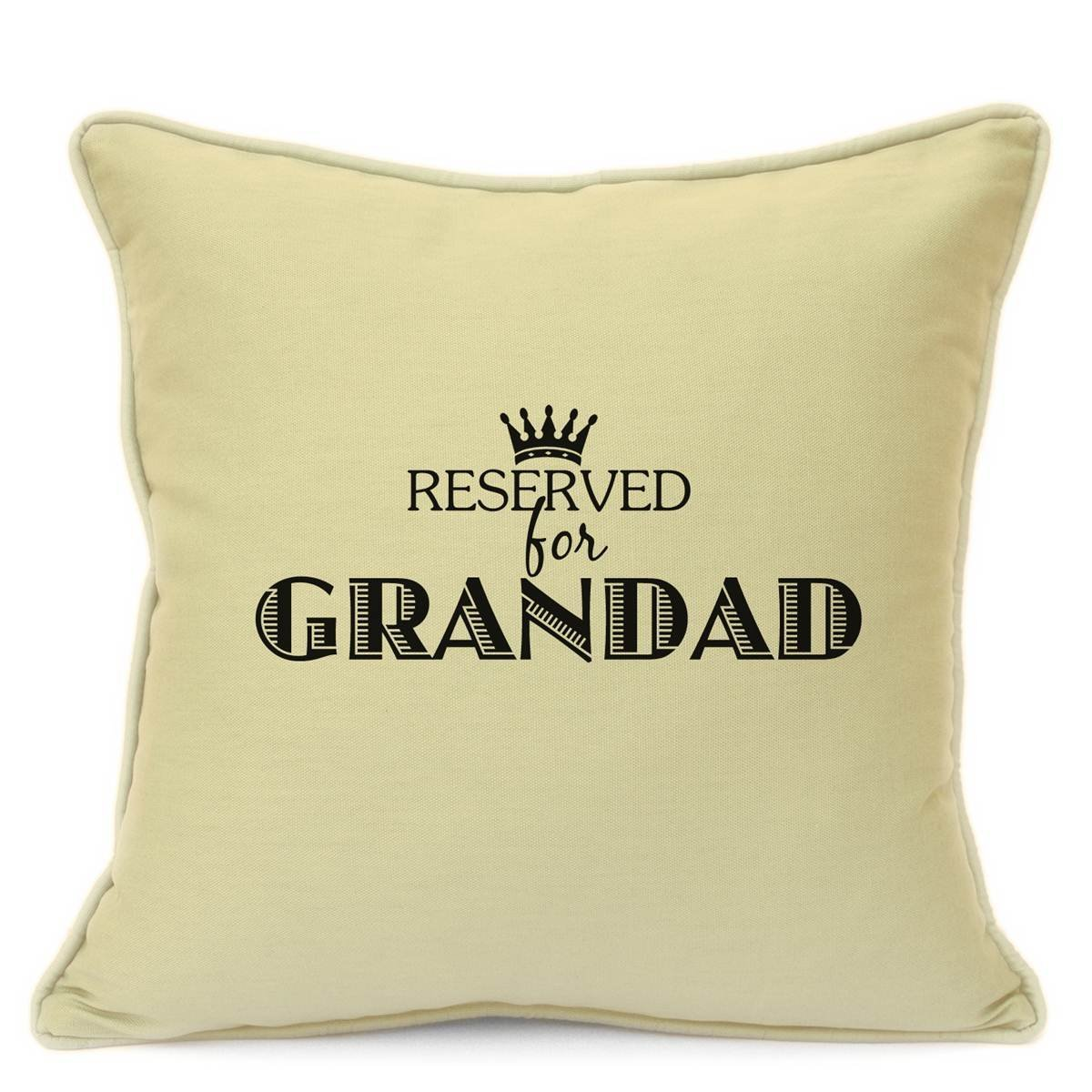 Personalised Cushion Cover Gift for Grandad Reserved For Grandad Cushion Cover Gift Beige Size 18 Inch 45 cm Perfect Finishing Touch To Your Home Imran' s Gift Shop