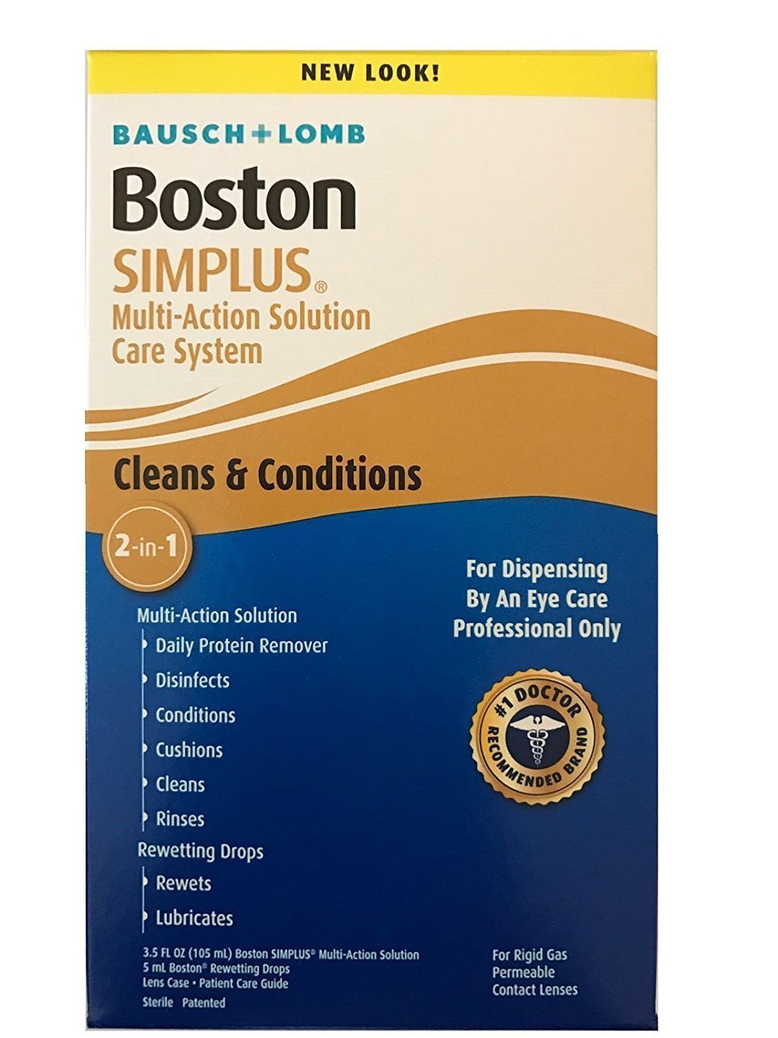 Bausch & Lomb Boston Simplus Multi-Action Solution-3.5 oz, Bonus Rewetting Drop
