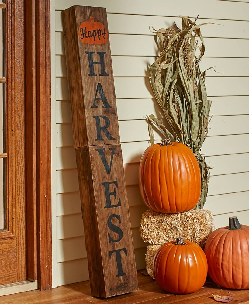 """13/"""" x 9.5/"""" Fall Autumn Thanksgiving Distressed-Look Harvest Signs"""