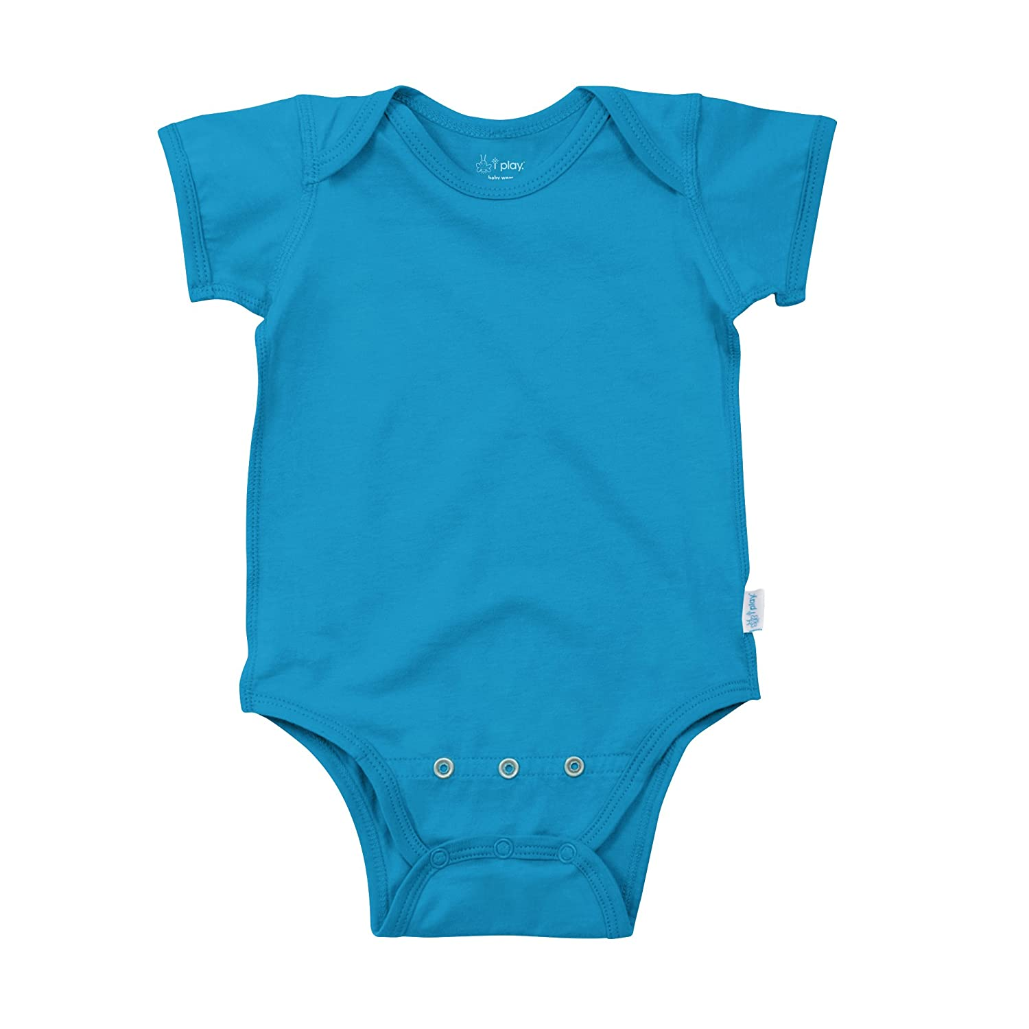 Amazon.com: i play. Baby Short Sleeve Organic Adjustable Bodysuit ...