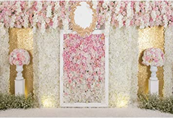 Amazon Com Ofila Wedding Backdrop 7x5ft Wedding Flowers Photography Background Bride Groom Portraits Wedding Ceremony Photos Engagement Party Video Studio Props Camera Photo
