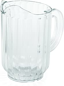 Tablecraft H364 Pitcher in SAN Plastic, 60 oz, Clear