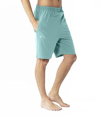 Lotuscrafts Pantalón Corto de Yoga para Hombre, de algodón ...