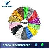 Victorstar @ 3D stylo filament 12 couleurs + 2 couleurs brillent dans l'obscurité pour stylo à l'impression 3D / 3D dessin stylo / diamètre de 1,75 mm ABS-10 Mètres (32.8ft) chaque couleur …
