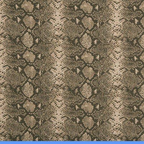 Swatch Sample Fabric Robert Allen Beacon Hill Mia Umber Brown Snake Skin Silk Wool ZJ20