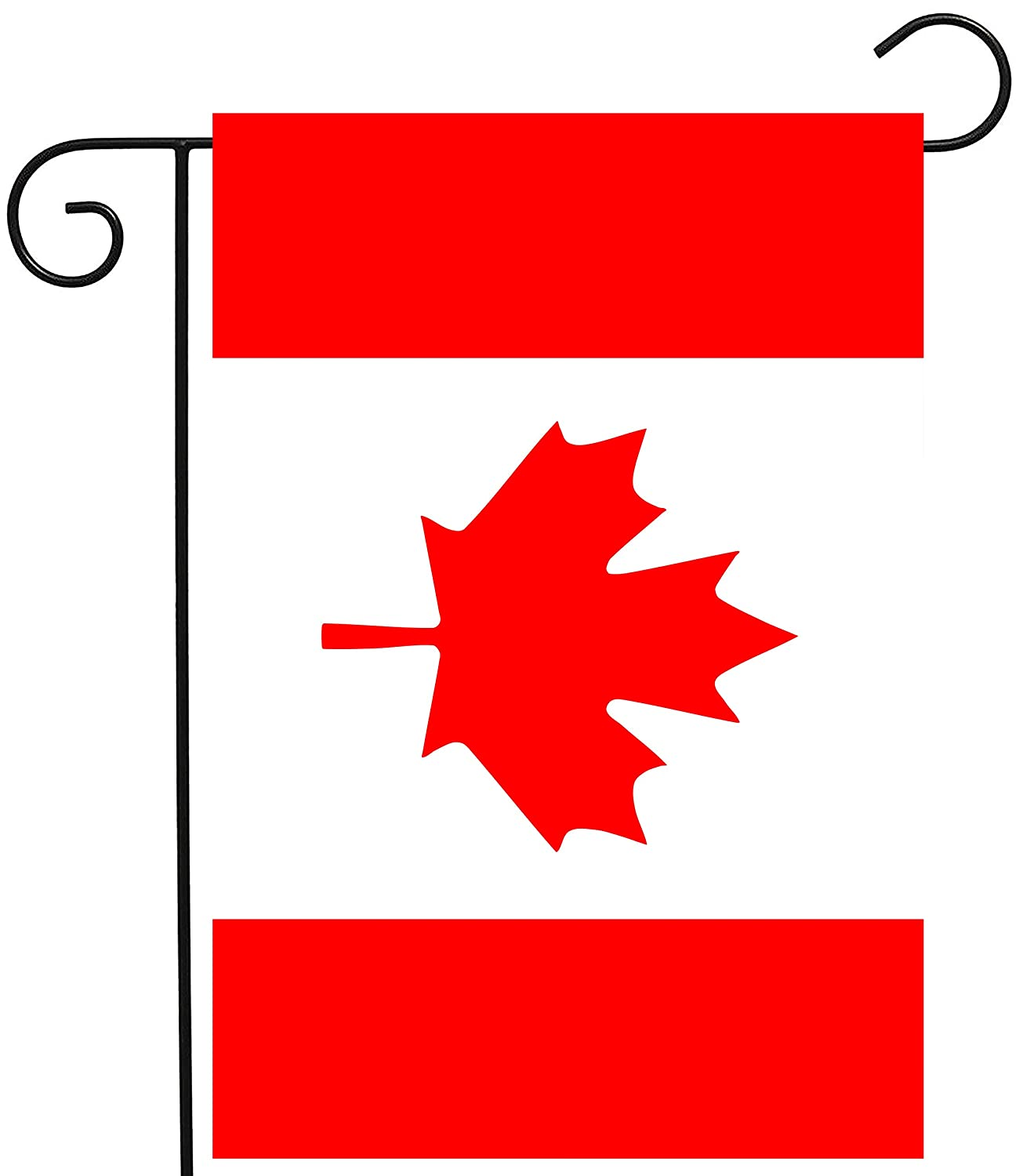 """ShineSnow Canada Canadian Maple Leaf National Flag Garden Yard Flag 12""""x 18"""" Double Sided, Polyester Welcome House Flag Banners for Patio Lawn Outdoor Home Decor"""