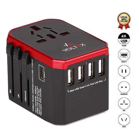 Amazon.com: Adaptador de corriente universal para viaje ...