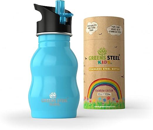 Botella de agua de niño - 350ml Botella a prueba de fugas Tapa con ...