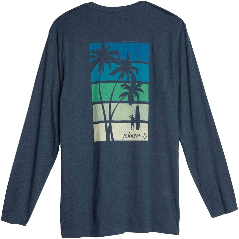 johnnie-O Palms Stripes Long Sleeve T-Shirt Twilight