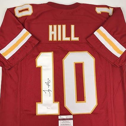 new style cb0f2 d0c78 Autographed/Signed Tyreek Hill Kansas City Red Football Jersey JSA COA