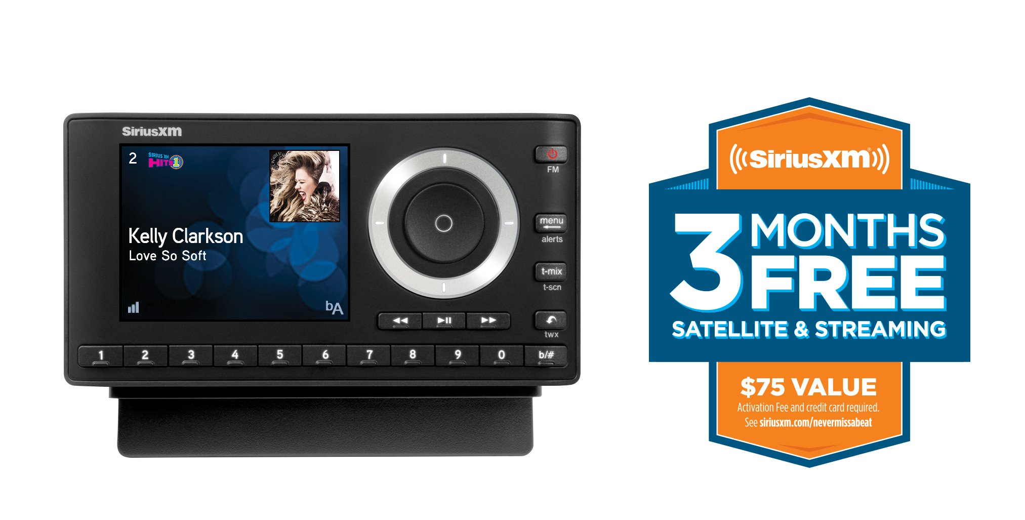 SiriusXM SXPL1V1 Onyx Plus Satellite Radio with Vehicle Kit with Free 3 Months Satellite and Streaming Service by SiriusXM (Image #2)