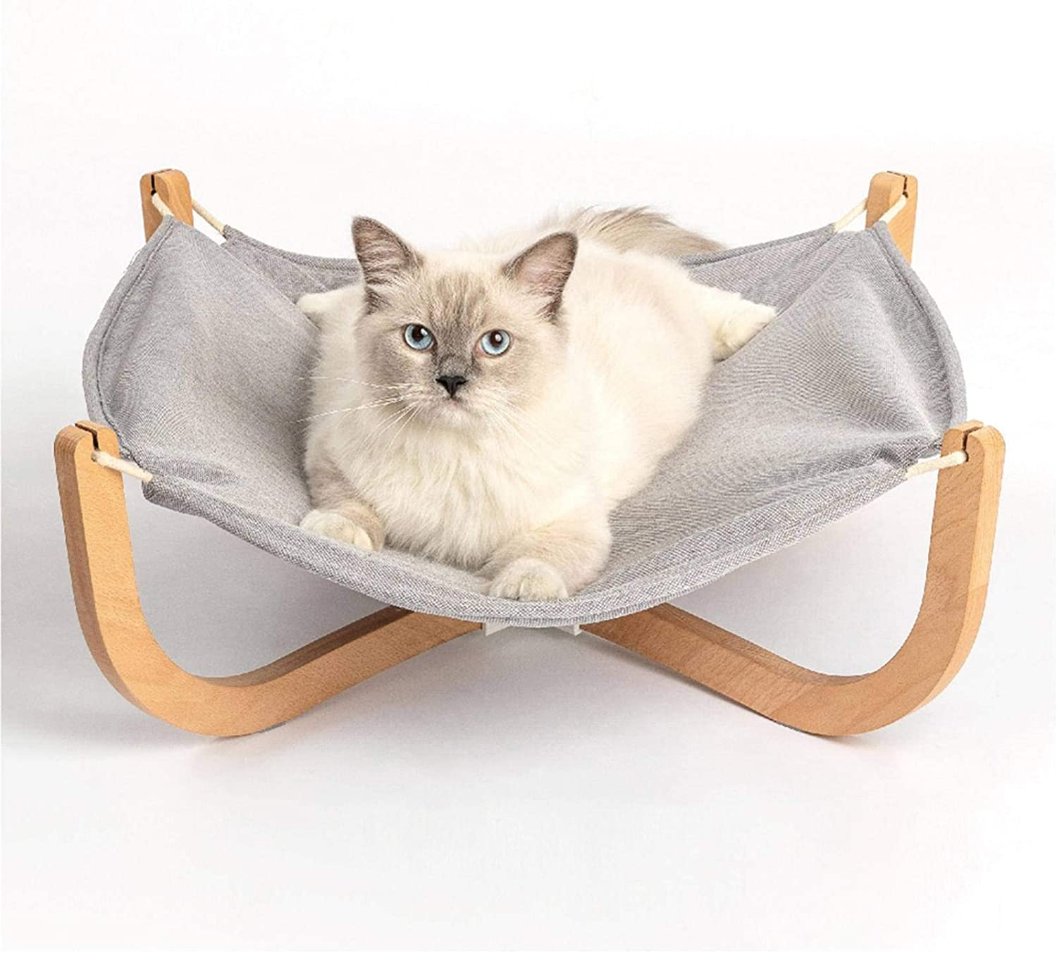 N-B Pet Litter Waterloo Solid Wood Cat Hammock Wooden Cat Bed Cat Litter For Four Seasons For Easy Storage of Cats