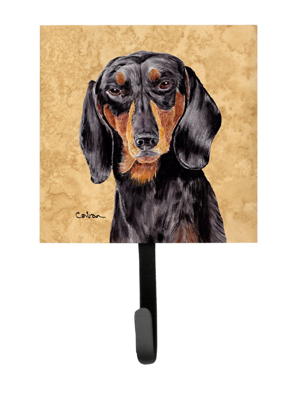 Carolines Treasures SC9139SH4 Dachshund Leash Holder or Key Hook Multicolor Small