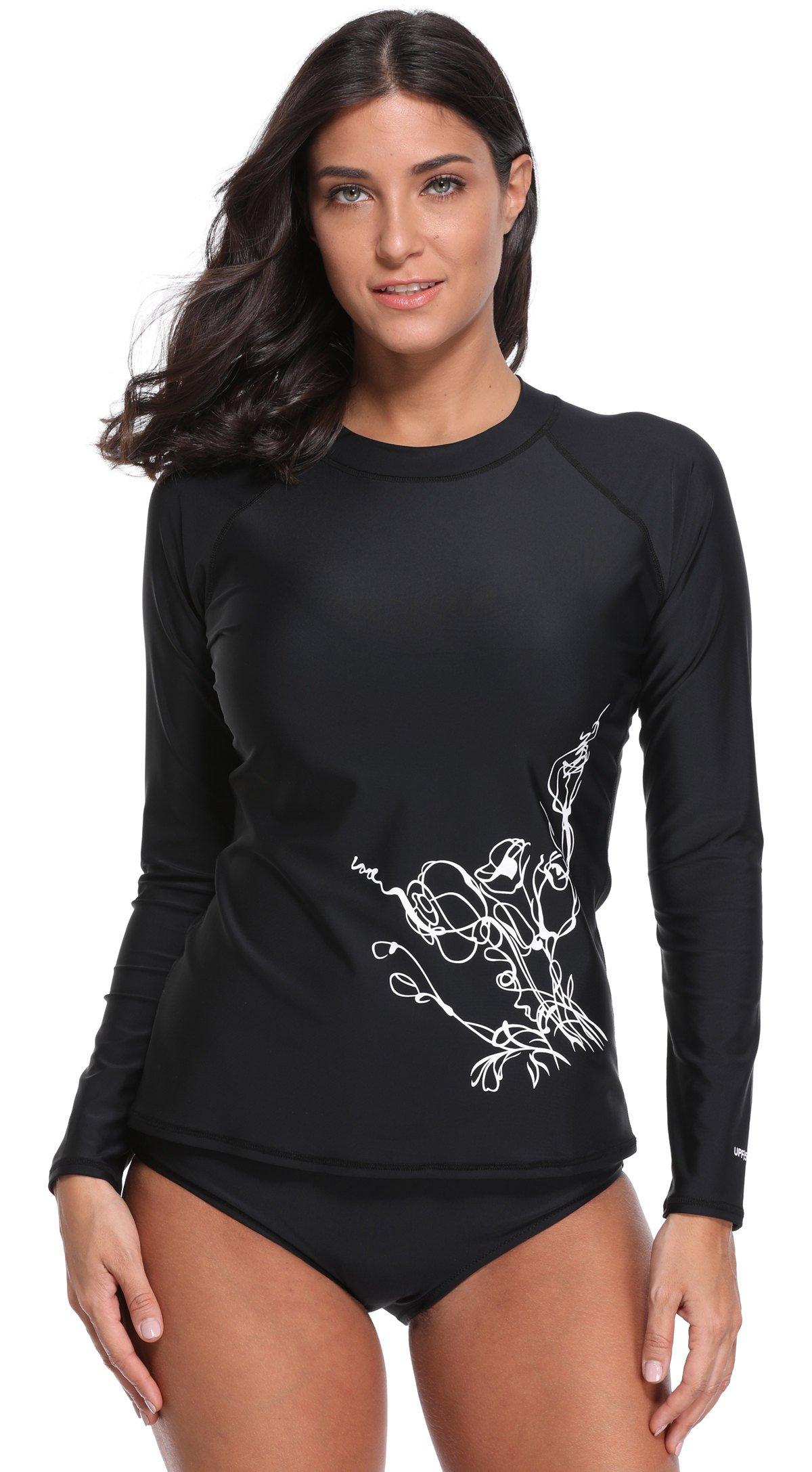beautyin Women's Long-Sleeve Rashguard Shirt UPF 50+ Rash Guard Swimsuit Top