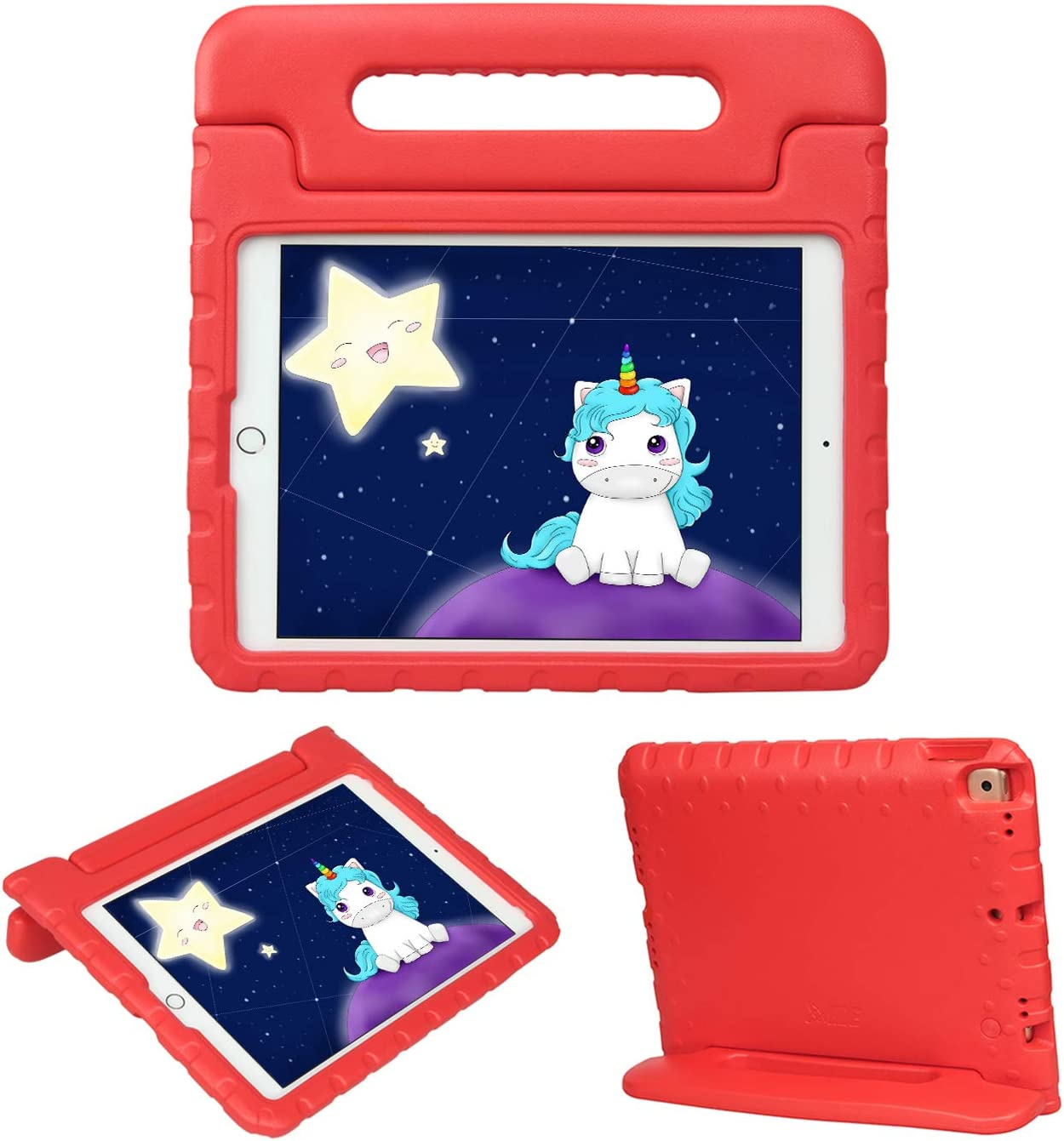 HDE iPad 8th Generation Case for Kids – Shock Proof iPad Cover 7th Generation 10.2 - iPad 10.2 Kids Case with Handle Stand for 7th/8th Generation Apple iPad - Red