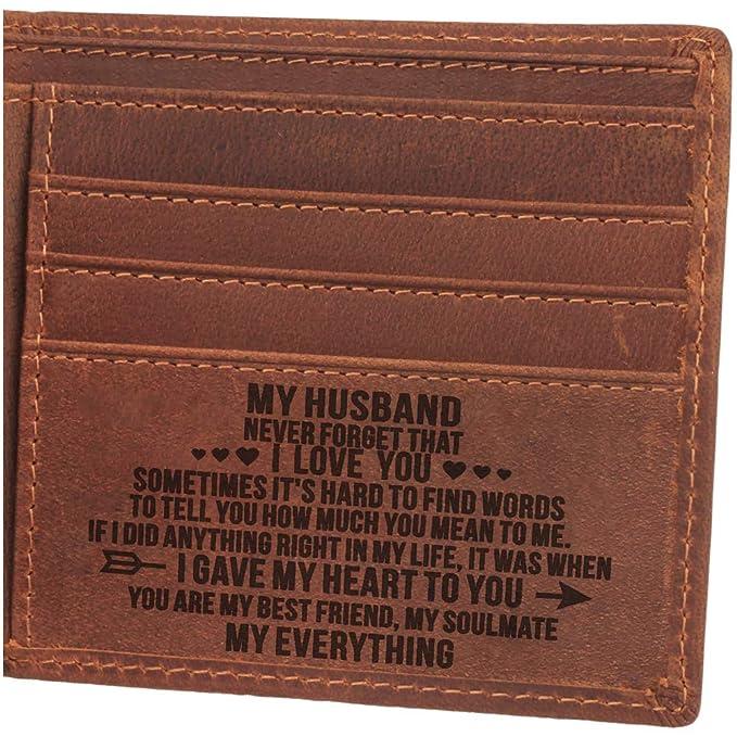 Amazon.com: Cartera para hombre, cartera para marido, marido ...