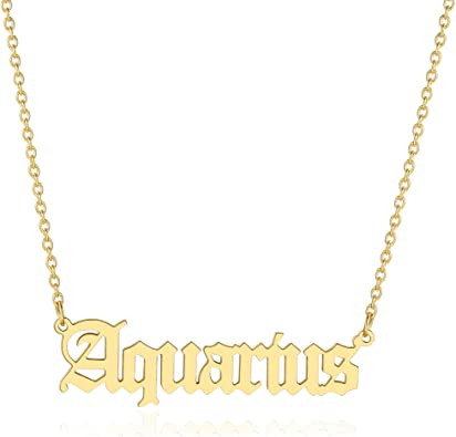 Vintage Necklace handmade jewelry Birth Sign Necklace Astrology Necklace Gold Necklace Vintage Jewelry Personalized Necklace