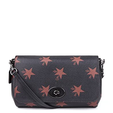 5510a76ebb15 Image Unavailable. Image not available for. Color  Coach Star C Mini Ruby  Crossbody ...