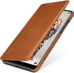 StilGut Book Type Case, Custodia per Huawei P20 PRO a Libro Booklet in Vera Pelle con Funzione on/off, Cognac