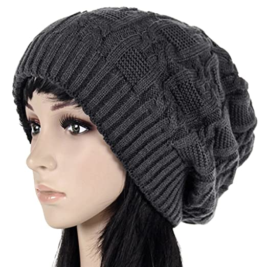 Image Unavailable. Image not available for. Color  Oryer Womens Winter Knit  Slouchy Beanie Baggy Warm Soft Chunky Cable Hats b183375f4b5f