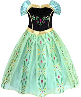 cotrio anna coronation dress princess costume dress up party dresses for little girlsgreen