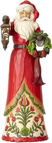 Enesco Jim Shore Heartwood Creek Tall Santa with Lantern Figurine, 15 , Multicolor