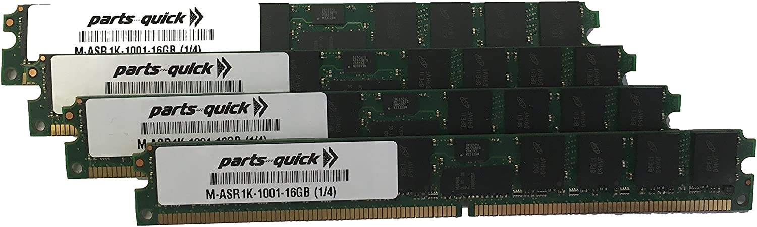16GB Memory Kit Upgrade Cisco ASR1001 M-ASR1K-1001-16GB 4x4GB