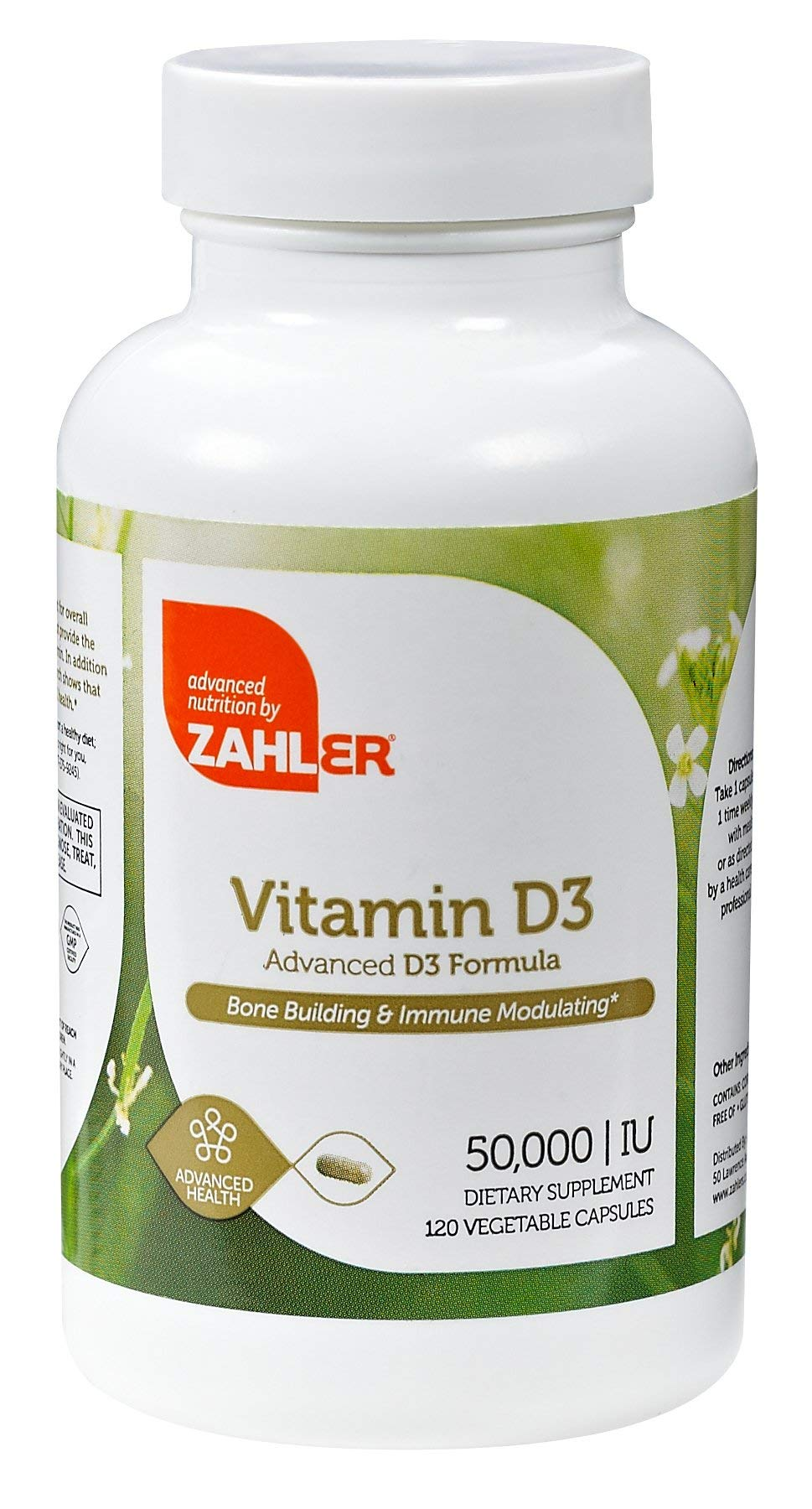 Zahler Vitamin D3 50,000IU, an All-Natural Supplement Supporting Bone Muscle Teeth and Immune System, Advanced Formula Targeting Vitamin D Deficiencies, Certified Kosher, 120 Capsulses by Zahler