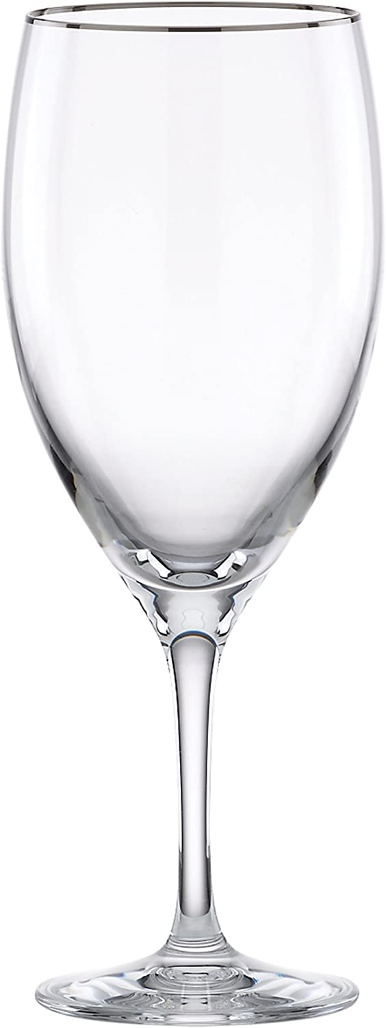 Lenox Timeless Platinum Signature Crystal All Purpose Beverage Glass, Clear